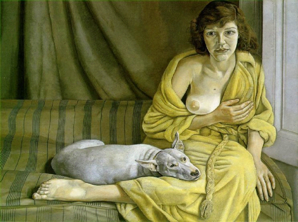 Girl with a White Dog by Lucian Freud 1950-51